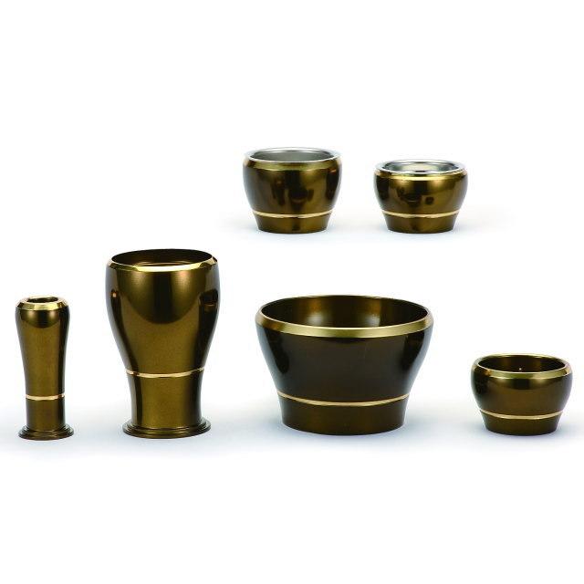 仏具セット いのり コハク 6具足 3.5寸 真鍮製