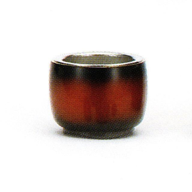 仏具単品 茶湯器 ゆめあかり レザーブラウン おしゃれ モダン 真鍮製