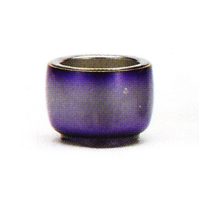 仏具単品 茶湯器 ゆめあかり ロイヤルパープル おしゃれ モダン 真鍮製