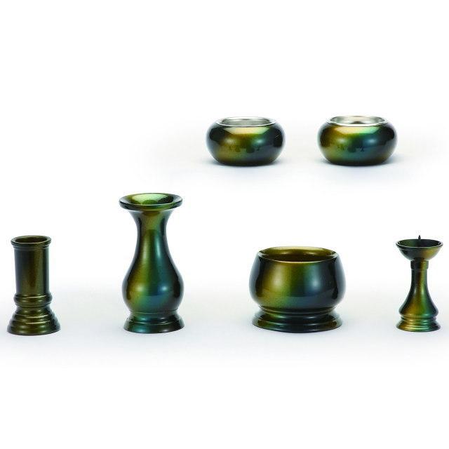 仏具セット 誉 ほまれ 虹彩むらさき 6具足 真鍮製