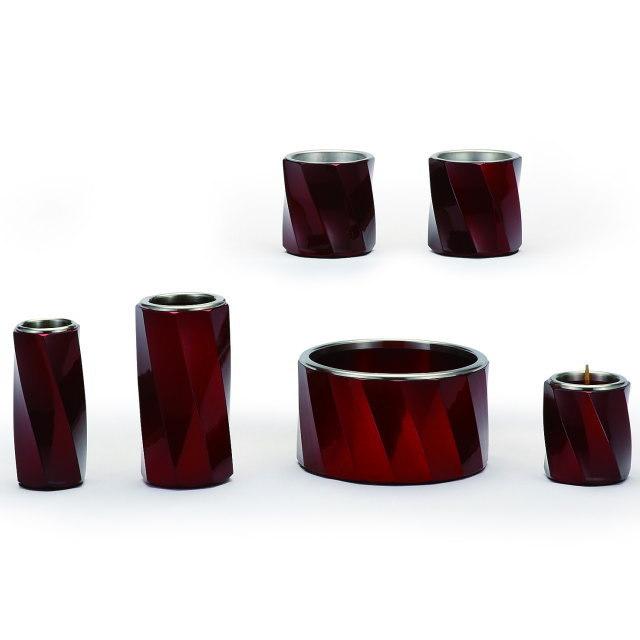 仏具セット トルネード ワインレッド 6具足 アルミ製