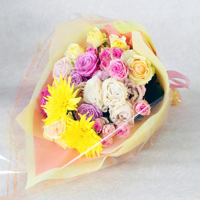 花束 【黄色オレンジ系】