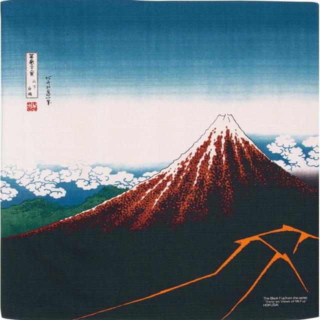 風呂敷 綿小風呂敷 約48cm 黒富士 山下白雨 Furoshiki 【International shipping OK】