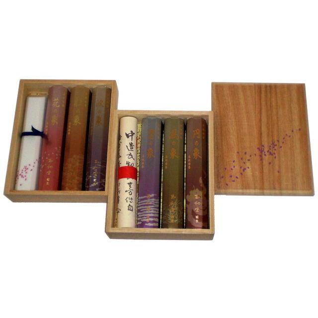 玉初堂のお線香 香りの象 六種 詰め合わせ進物用 香立付