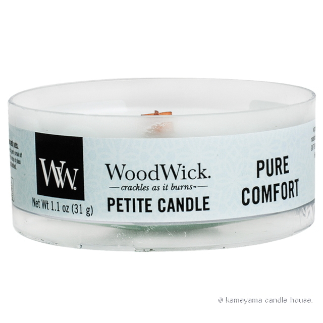 Wood Wick Petite candle Pure Comfort プチキャンドル ピュアコンフォート 【International shipping OK】