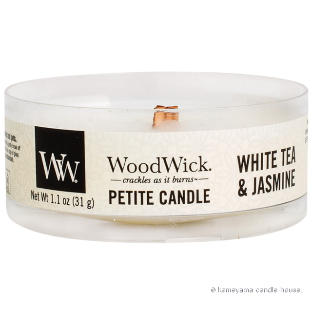 Wood Wick Petite candle White Tea & Jasmine プチキャンドル ホワイトティー&ジャスミン 【International shipping OK】