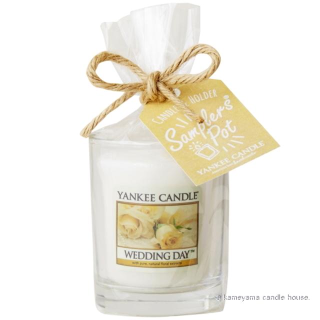 yankee,candle,samplers,pot,ヤンキーキャンドル,サンプラー,ポット,アロマ,wedding,day,ウエディングデイ
