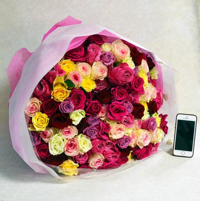 マリー・アントワネット・・100本のバラの花束