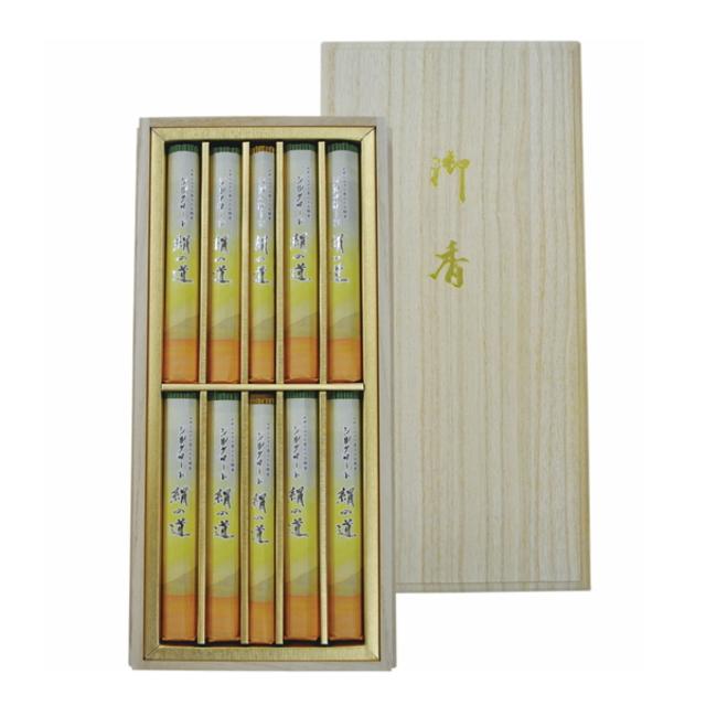 丸叶むらたのお線香 シルクロード 絹の道 ご贈答用 桐箱入り 白檀の香り約30g×8把+約15g×2把