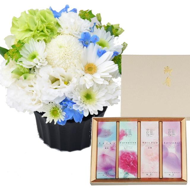 日本香道のお線香 花風アソート 進物4箱入 お供えアレンジメント セット