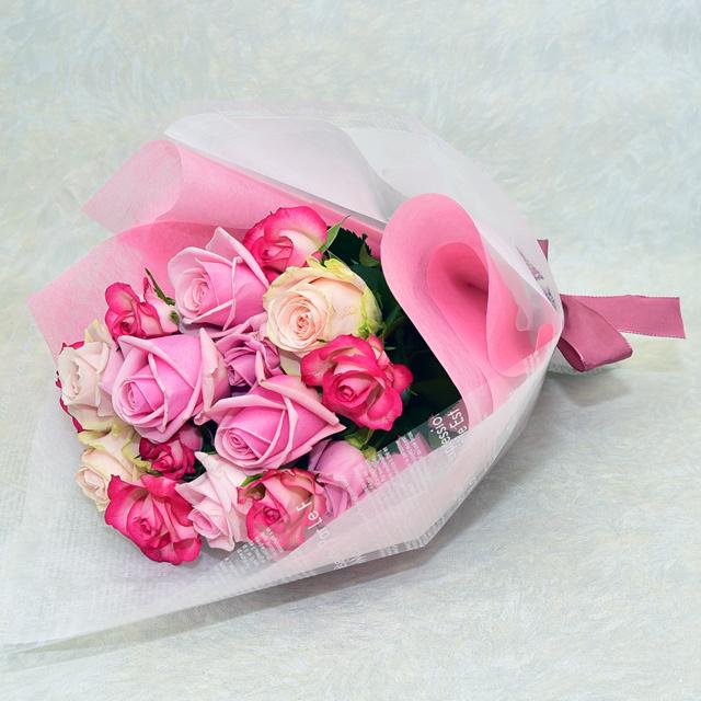 バラの花束 【ピンク系】