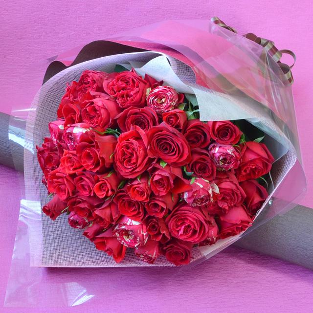 バラの花束 【赤系】