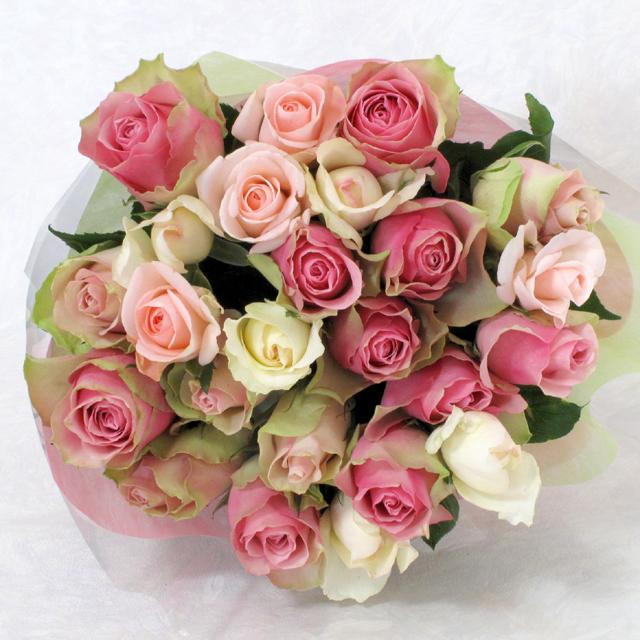 25本のバラ花束 【ピンク系グラデーション】