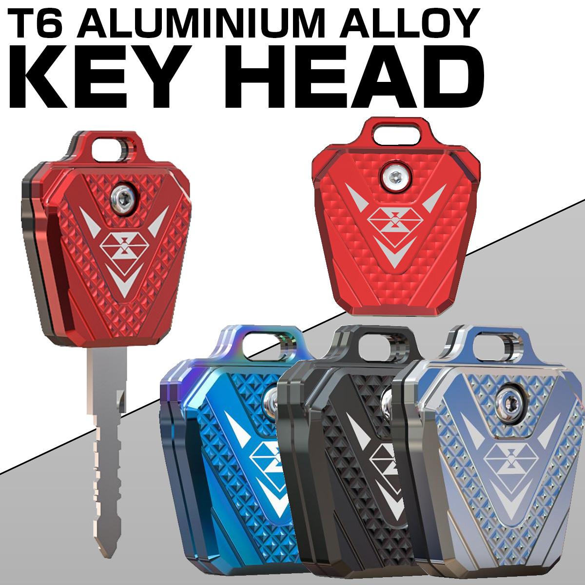 ホンダ車 汎用 キーケース キーカバー キーホルダー 鍵 CB190等 T6アルミ CNC削り出し S-604