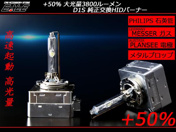 高品質 大光量3800ルーメン フィリップス管 D1S 5500K 6500K ( G-106 G-107 )