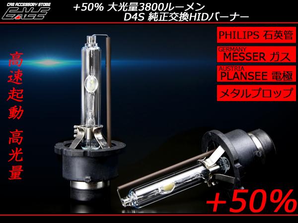 HID バーナー 純正交換 高品質 大光量3800ルーメン フィリップス管 D4S 5500K G-112