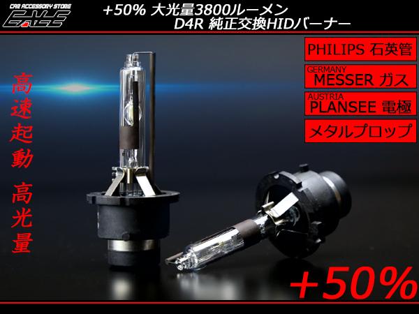 HID バーナー 純正交換  高品質 大光量3000ルーメン フィリップス管 D4R 6500K G-117