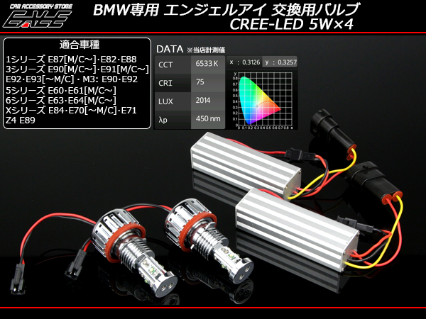 40W BMWイカリング交換用LED E87E82E88E90E60E63E84E70E89 ( H-30 )
