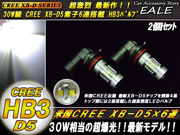 CREE XB-D5搭載 30W級 HB3 LEDフォグランプ ( H-33 )