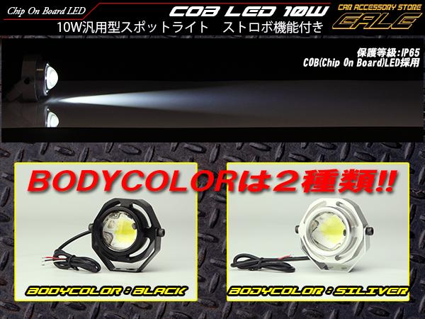 10W COB-LED 汎用型スポットライト IP65 ストロボ機能付き ( P-303 P-304 )
