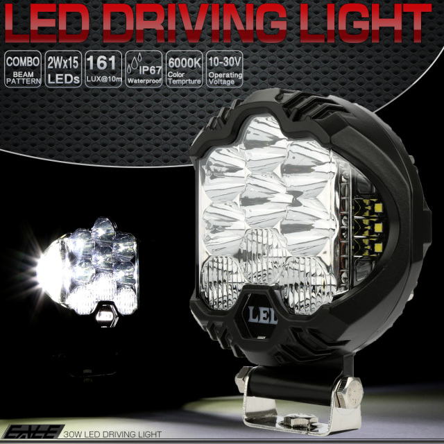 30W LED ドライビングランプ コンボ 作業灯 オフロード 4WD フォグランプ 12V 24V兼用 P-510