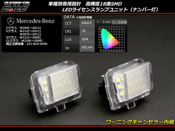 ベンツ LEDライセンスランプ W204W221W207W211W216等 ( R-105 )