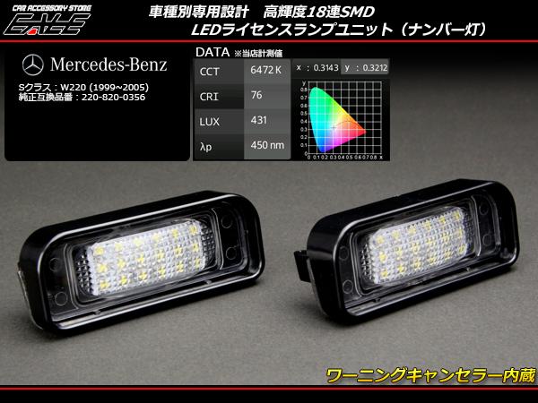 ベンツ LEDライセンスランプユニット Sクラス W220全車 ( R-108 )