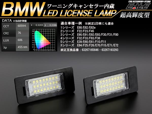 BMW LEDライセンスランプ E88E82F22F23E90E91E92E93F30F31 R-109