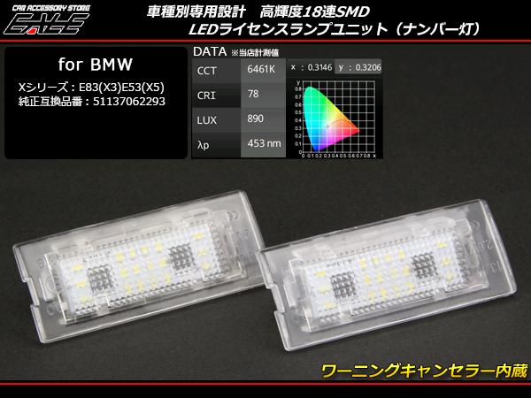 BMW LEDライセンスランプユニット X3 E83 X5 E53 ( R-110 )