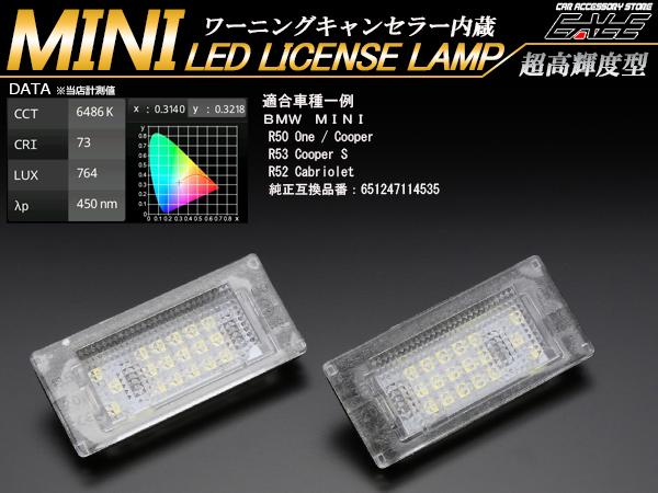 BMW MINI ミニ LEDライセンスランプ R50 R53 R52 R-112