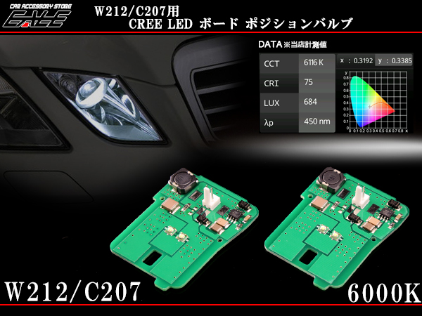 ベンツ W212 C207専用 6000K LEDポジションボードバルブ ( R-124 )