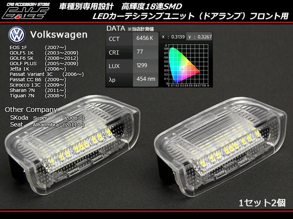 VW フロント用LEDカーテシランプ ゴルフ5ゴルフ6等 R-127