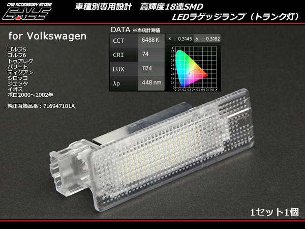 VW LEDラゲッジランプ トランク灯 ゴルフ5 6パサート トゥアレグ ティグアン シロッコ ジェッタ イオス ポロ等 ( R-134 )