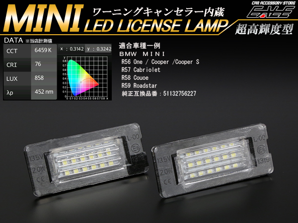 BMW MINI LEDライセンスランプユニット R56 R57 R58 R59等 ( R-157 )