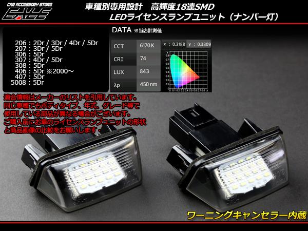 プジョー 2062073063073084064075008 LEDライセンスランプ ( R-172 )