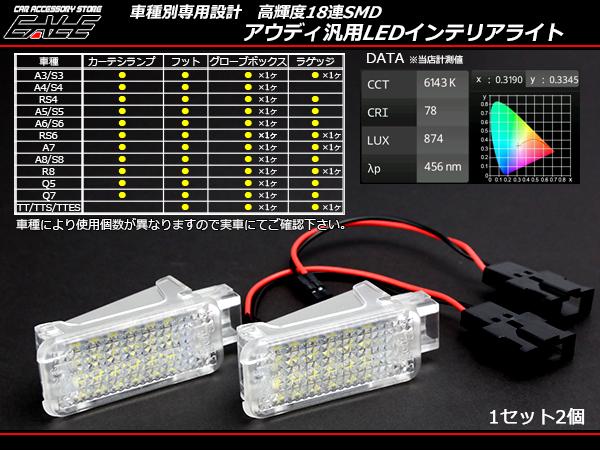アウディ 汎用 LED インテリアランプ A3 A4 A5 A6 A7 A8等 ( R-178 )