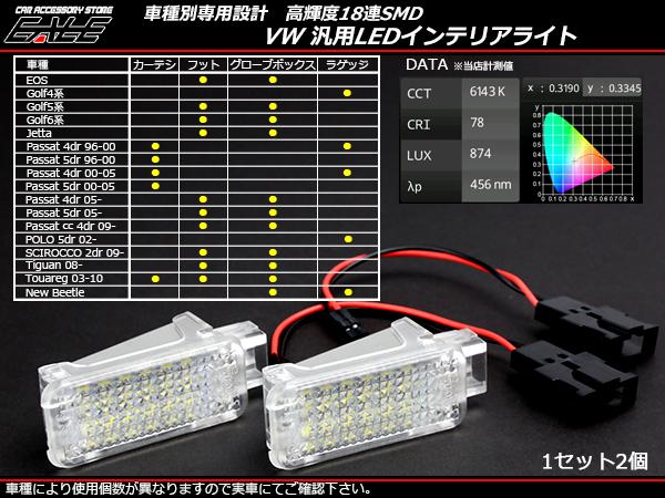 VW 汎用 LED インテリアランプ ゴルフ パサート ポロ等 ( R-178 )