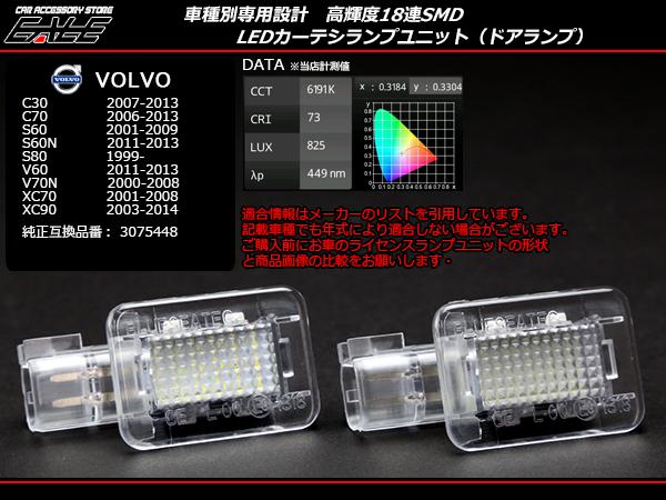 VOLVO LEDカーテシランプ C30 C70 S60N S80 V60 V70N XC70 XC90 ( R-183 )