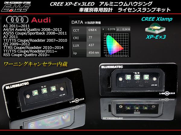 アウディ CREE LED ライセンスランプ A1A4A5A7Q5 TTS TTRS ( R-204 )