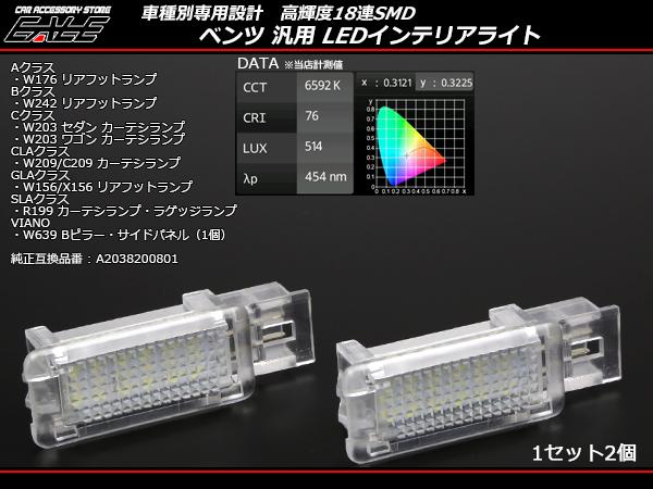 ベンツ 汎用 LEDインテリアランプ ルームランプ W176 W242W156 X156 (R-213)
