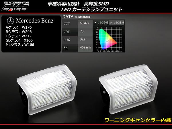 メルセデス ベンツ LED カーテシ ランプ Aクラス W176 Bクラス W246 Eクラス W212 GLクラス X166 MLクラス W166 R-407