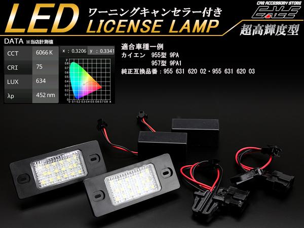 ポルシェ LED ライセンスランプ ナンバー灯 カイエン 955型 9PA 957型 9PA1 前期 後期 R-409