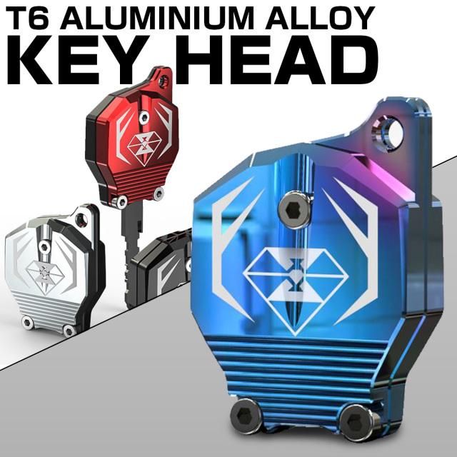 ホンダ車 汎用 キーケース キーカバー キーホルダー 鍵 CB190等 T6アルミ CNC削り出し S-603