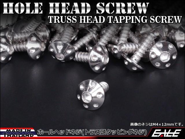 M5×20mm ホールヘッドネジ タッピングネジ ステンレス 削り出し トラス頭 シルバー TC0064