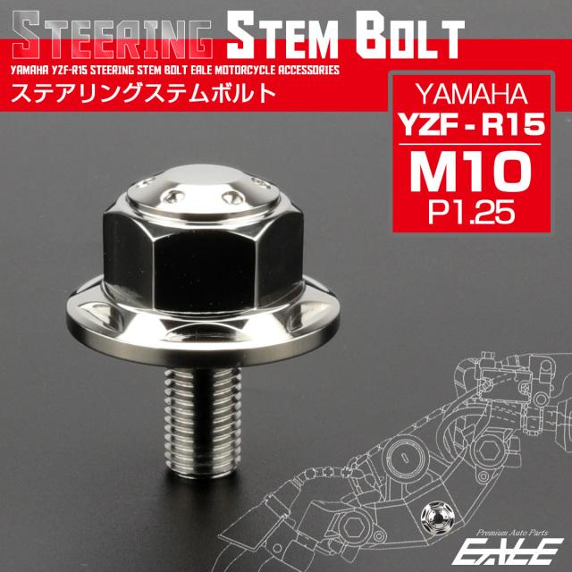 ステアリング ステムボルト YZF-R15 ヤマハ M10 P1.25 ホールスターヘッド SUSステンレス シルバー TH0138