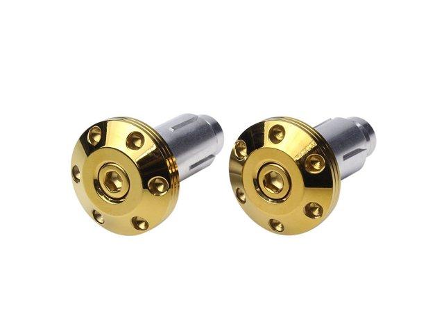 SUSステンレス 削り出し シンホールヘッドタイプ 薄型バーエンドキャップ ハンドルパイプ内径13~18mmに適合 ゴールド TH0435