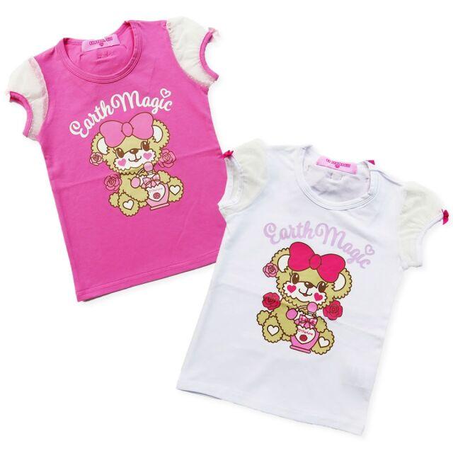 EARTHMAGIC(アースマジック) PerfumeMaffyプリントチュール袖Tシャツ