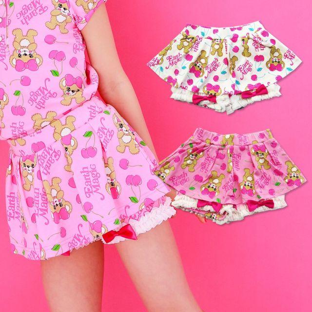 【50%OFFセール】EARTHMAGIC(アースマジック) CherryMaffy総柄パンツスカート
