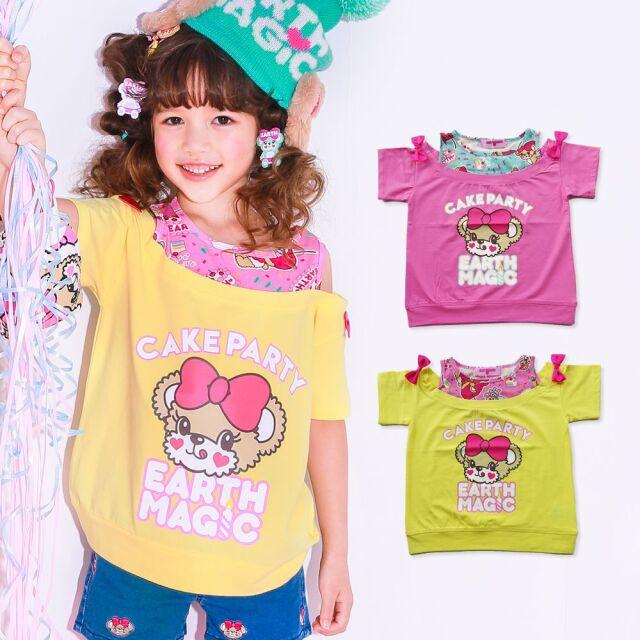 【30%OFFセール】EARTHMAGIC(アースマジック)  ケーキパーティードッキングTシャツ