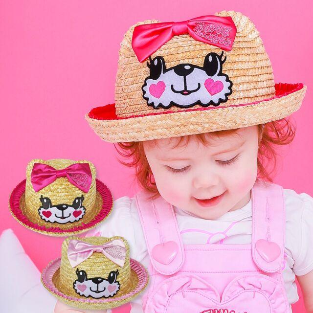EARTHMAGIC BABY(アースマジックベビー) マフィーフェイスクマ耳 麦わら帽子